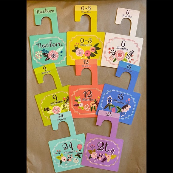 Other - Childrens Closet Organizer Tags